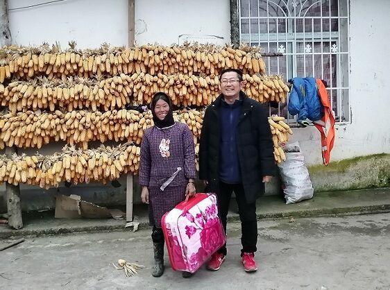 金堂县妇幼保健院援彝人员彝历新年走访慰问对口帮扶贫困人员